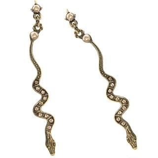 Sweet Romance Snake Deco Crystal Earrings