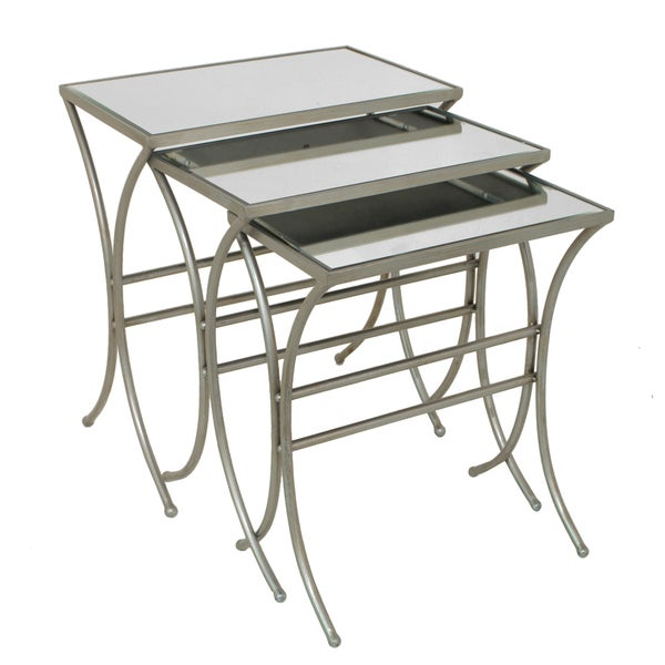 Shop metal mirror nesting tables set of free
