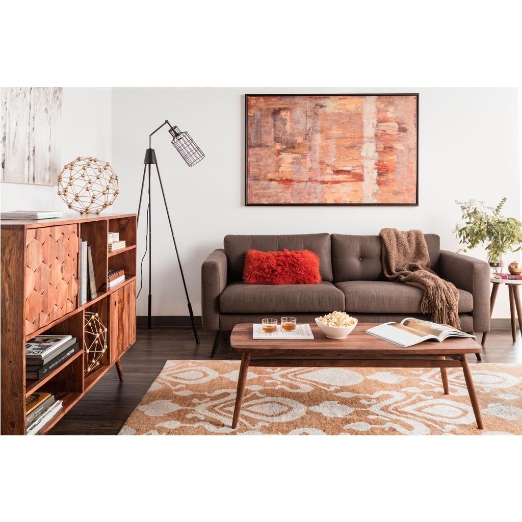 Aurelle Home Madrid Mid-century Modern Grey Sofa (Sofa) (...