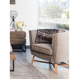 Aurelle Home Rustic Natural Grey Accent Chair