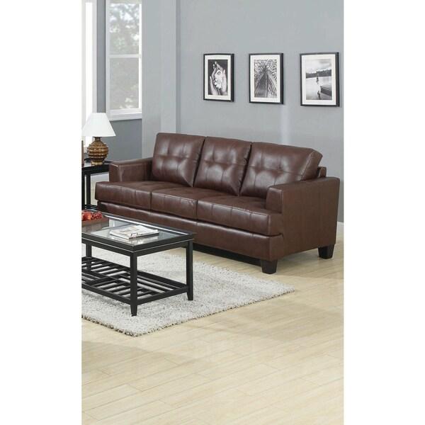 Sofa Leather Workshop: Shop Lusene Contemporary Leather Sofa