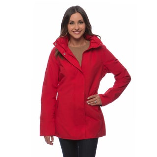Happy Rainy Days Women's Hooded Zip-front Jacket (More options available)
