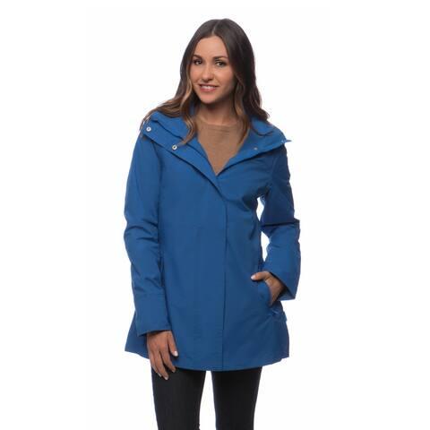 Happy Rainy Days Women's Hooded Zip-front Jacket