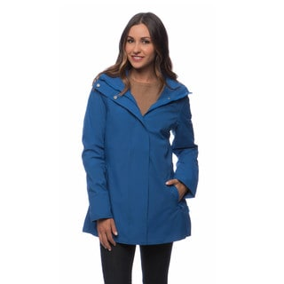 Happy Rainy Days Women's Hooded Zip-front Jacket
