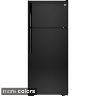 GE Energy Star 17.5 Cubic-foot Top-freezer Black Refrigerator