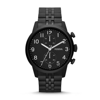 Fossil Men's Townsman Chronograph Stainless Steel Watch - Black