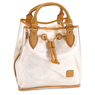 D by Dominie Large Clear Leather Jelly Tote