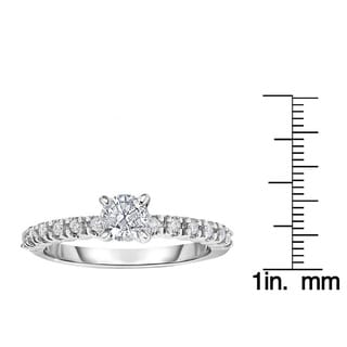 14k White Gold 5/8ct TDW Diamond Engagement Ring