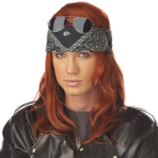 Hollywood Rocker Wig Axl Rose Costume Guns 'n Roses 90's 80's Axel Auburn