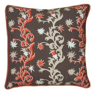 Rizzy Home Grey Laura Fair 18-inch Decorative Throw Pillow