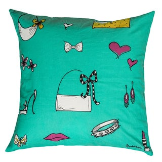Rizzy Home Teal Rachel Kate 18-inch Throw Pillow