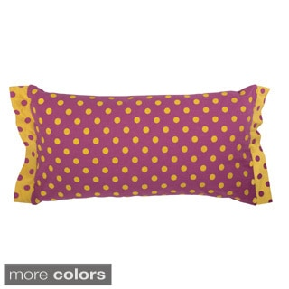Rizzy Home Black/ Pink Rachel Kate 11-inch x 21-inch Throw Pillow