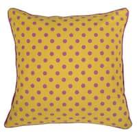 Rizzy Home Yellow Rachel Kate 18-inch Throw Pillow