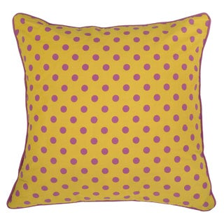 Rizzy Home Yellow Rachel Kate 18-inch Throw Pillow