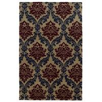 Rizzy Home Beige/ Taupe/ Dark Beige Bradberry Downs Collection 100-percent Wool Accent Rug (5' x 8') - 5' x 8'