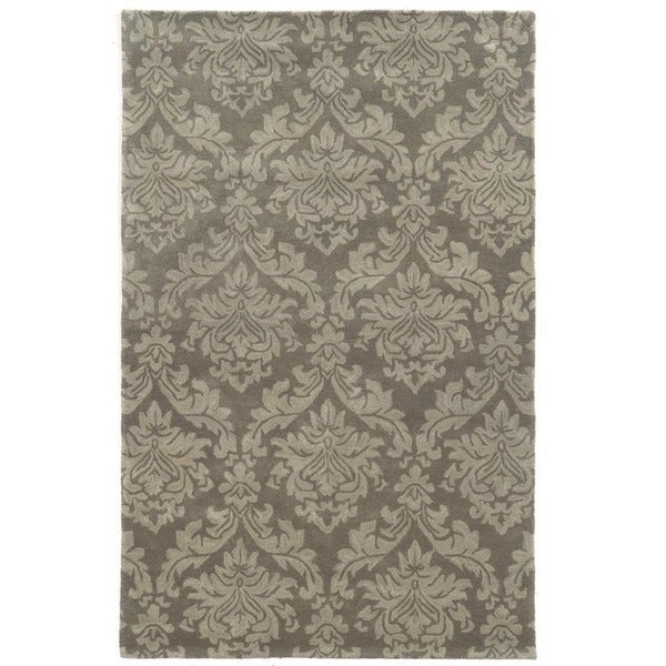 Rizzy Home Beige/ Taupe/ Dark Beige Bradberry Downs Collection 100-percent Wool Accent Rug (5' x 8')