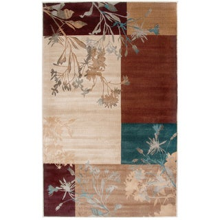 Rizzy Home Ivory/ Beige Bellevue Collection Power-loomed Accent Rug (5'3 x 7'7)