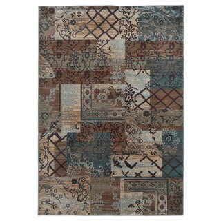 Rizzy Home Multi Bellevue Collection Power-loomed Accent Rug (5'3 x 7'7)