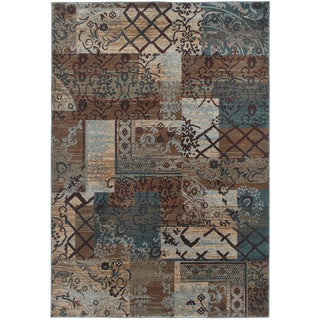 Rizzy Home Multi Bellevue Collection Power-loomed Accent Rug (6'7 x 9'6)