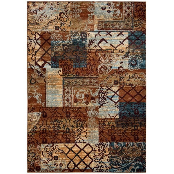 """Rizzy Home Multi Bellevue Collection Power-loomed Accent Rug (6'7 x 9'6) - 6'7"""" x 9'6"""""""