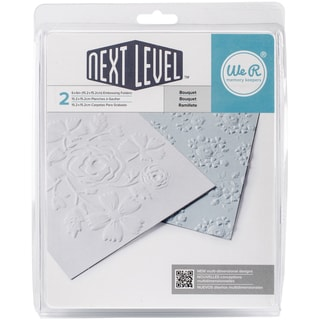 We R Next Level Embossing Folders 6inX6in 2/Pkg Bouquet