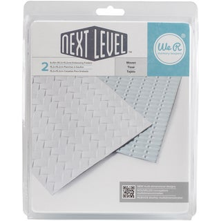 We R Next Level Embossing Folders 6inX6in 2/Pkg Woven