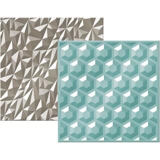 We R Next Level Embossing Folders 6inX6in 2/Pkg Gemstone