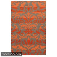 Rizzy Home Bradberry Downs Collection 100-percent Wool Accent Rug - 8' x 10'