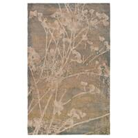 Rizzy Home Beige Bellevue Collection Power-loomed Accent Rug - 7'10 x 10'10