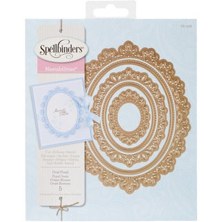 Spellbinders Nestabilities Decorative Elements Dies Oval Floral