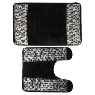 Contour Bathroom Rugs Shop The Best Deals For Dec - Black contour rug for bathroom decorating ideas