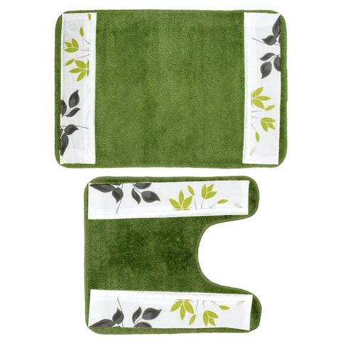 Flor Verde Bath and Contour Rug Set or Separates