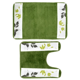 Flor Verde Bath and Contour Rug Set or Separates