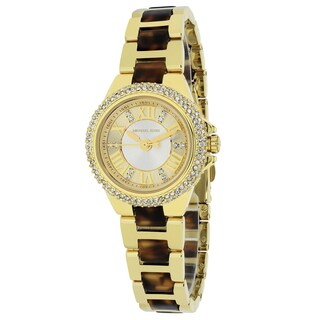 Michael Kors Women's MK4291 Mini Camille Round Tortoise and Gold-tone Bracelet Watch