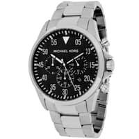 Michael Kors Men's  Gage Round Silvertone Bracelet Watch - Silver