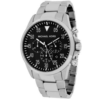 Michael Kors Men's MK8413 Gage Round Silvertone Bracelet Watch