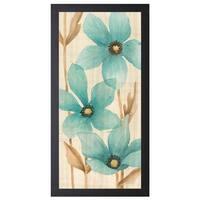 MAJA 'Waterflowers l', 16 x 28 Framed Art Print