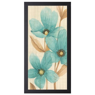 MAJA 'Waterflowers ll', 16 x 28 Framed Art Print