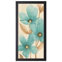 MAJA 'Waterflowers ll', 16 x 28 Framed Art Print