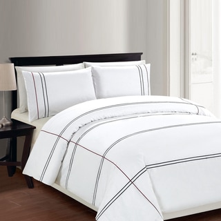 Lauren Taylor Cedano 3 Piece Cotton Duvet Cover Set
