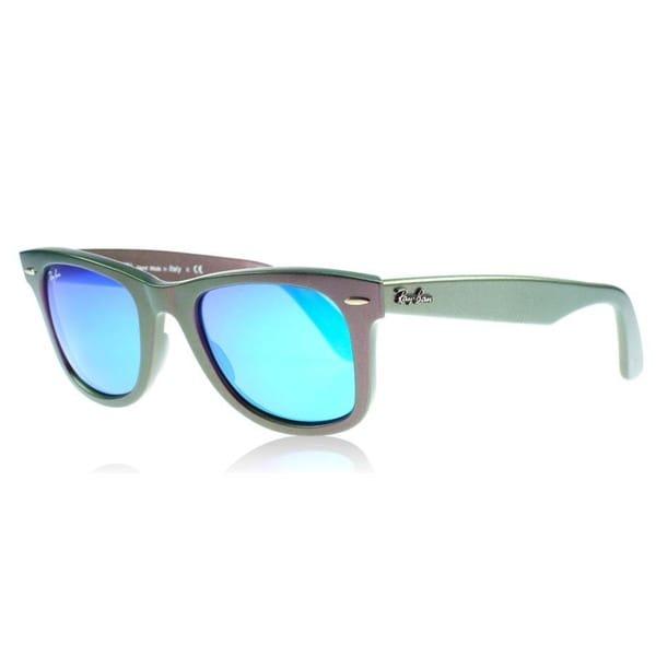 Ray-Ban Wayfarer RB2140 Unisex Cosmo Green Purple Frame Blue Lens Sunglasses a8848150a3