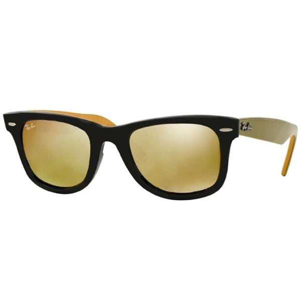 Large Yellow Frame Sunglasses : Ray-Ban RB2140 Black Frame Yellow Flash Lens Wayfarer ...