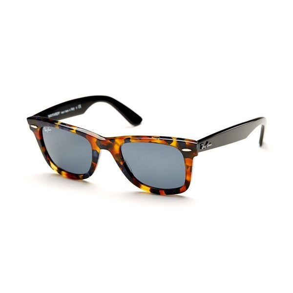 4a5af4df104 Shop Ray-Ban RB2140 Blue Fleck Gradient Lens Wayfarer Sunglasses - Free  Shipping Today - Overstock - 10276556