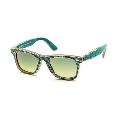 Ray-Ban Wayfarer RB2140 Unisex Green Denim Frame Green Gradient Lens Sunglasses