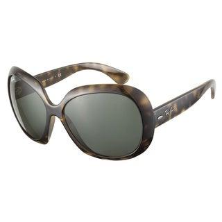 Ray-Ban Jackie Ohh II RB4098 Havana Demi Brown Gray/ Green Sunglasses