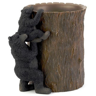 Black Bear Lodge Wastebasket