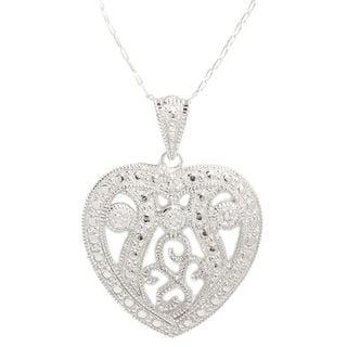 Pori Sterling Silver Filigree Milgrain Heart Necklace