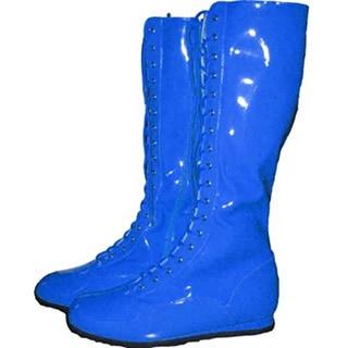 Blue Adult Pro Wrestling Boots