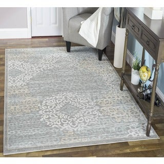 Admire Home Living Plaza Mia Grey Area Rug (3'3 x 4'11) - 3'3 x 4'11