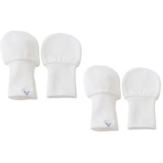 Crummy Bunny No Scratch White Cotton Baby Mittens (Set of 2) (3 options available)